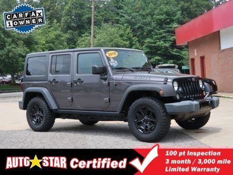 Pre-Owned 2016 JEEP WRANGLER UNLIMITED Unlimited Willys Wheeler